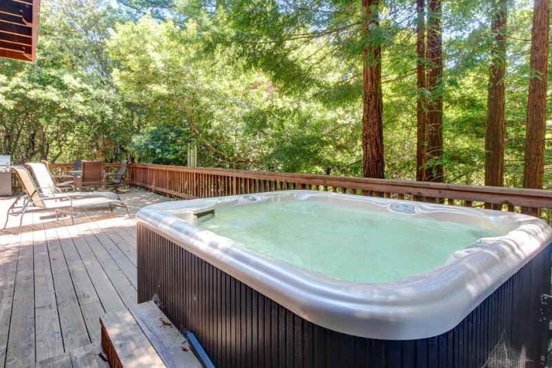 Atmospheric dog-friendly home w/ hot tub & 2 decks, close to the river & ocean! - Image 1 - Cazadero - rentals