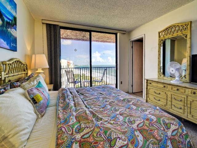 Beach views and balcony access from the mater bedroom - Madeira Towers 601 Madeira Beach front with spectacular views!!! - Madeira Beach - rentals