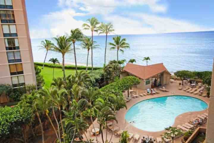 Great views from 516 lanai. - Ocean View Royal Kahana Studio - Kahana - rentals