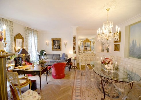 Dining area with desk - Elegant 3 Bedroom Apt Near Eiffel Tower - Alma - Paris - rentals