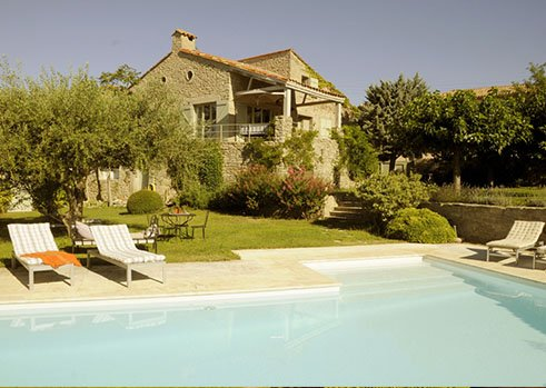 View of the house from the swimming pool - Les Oliviers - Languedoc-Roussillon - rentals