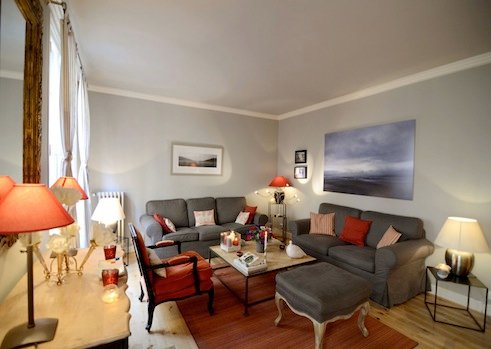 Living Room - Vacation 1 Bedroom Apartment in the Heart of Paris - Paris - rentals
