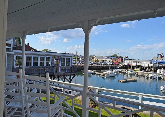 Rockport Harbor from porch. - John Oakes Rockport Harbor House:  Historical home right on the water - Rockport - rentals