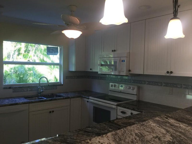 The new kitchen - not quite done yet! - TOTAL REMODEL FINISHED 11/12/2016!  CLOSE TO BEACH - Sanibel Island - rentals