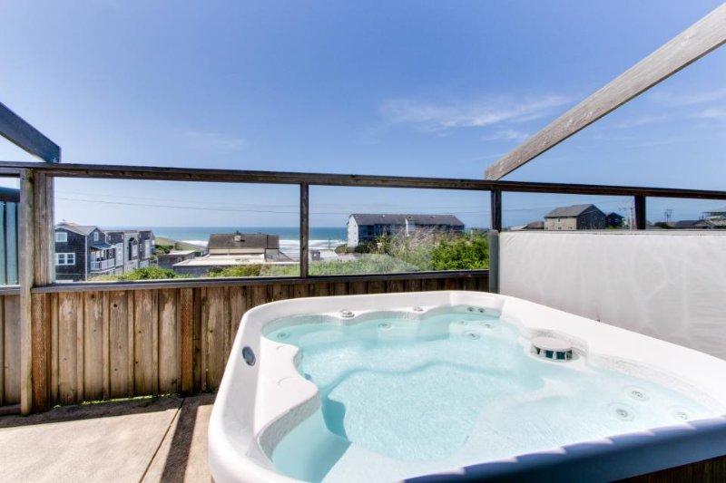 Dog-friendly beach house w/ private hot tub & ocean views! - Image 1 - Newport - rentals