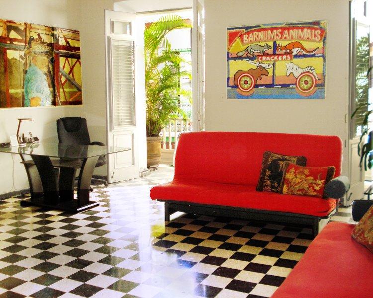 1  Living Room with balcony - Old San Juan Huge duplex 2/2 w/Balcony over Cristo - San Juan - rentals