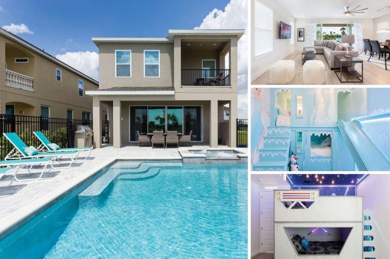 Golden Bear Luxury | Brand New 5 Bed Luxury Reunion Villa with Superhero Games Room, Star Wars & Frozen Custom Themed Bedrooms - Image 1 - Kissimmee - rentals