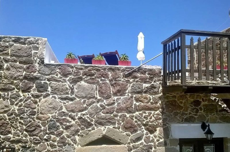 sun-terrace deck chairs  - Machi House Milos - Apartment K - Milos - rentals