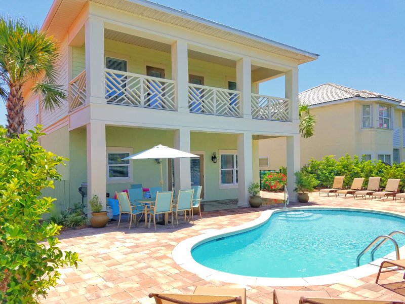 Back of home, Private pool & outdoor dining!  - Brand New 7B/6B! Private Pool, Free golf cart. - Destin - rentals