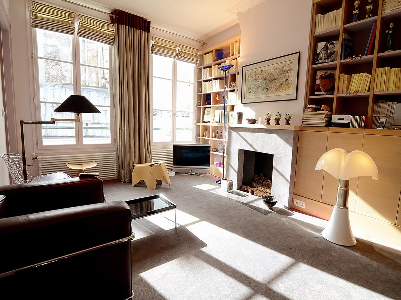 Living Room - Modern 1 Bedroom Vacation Apt Near Musée d'Orsay - Paris - rentals