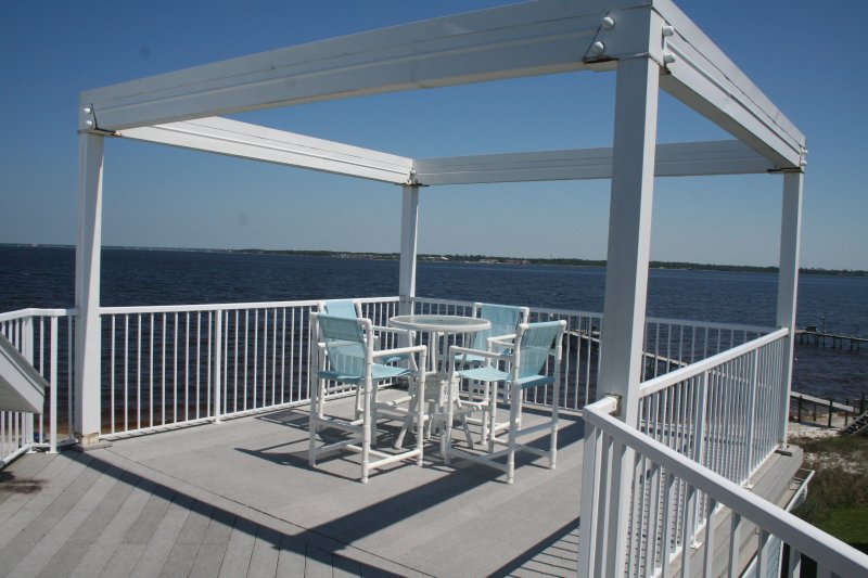 Amazing views from the huge roof top deck. - Amazing Roof Top Deck on the Bay - 4 Bedroom/Sleeps 10 - Pensacola Beach - rentals