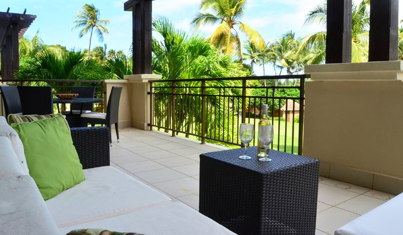 Relax and have some wine while enjoying the views from your private terrace. - Luxury Villa Getaway- Exclusive Bahia Beach Resort - Rio Grande - rentals