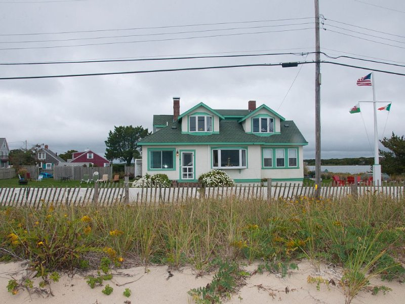 View of house from our private ocean beach. - Oceanfront with Private Beach in Falmouth on Cape - Falmouth Heights - rentals