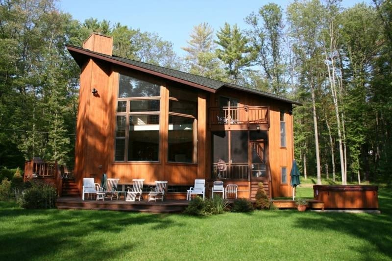 View from the Lake - Catskills Lake House, Hot Tub, Dock, Waterfront - Eldred - rentals
