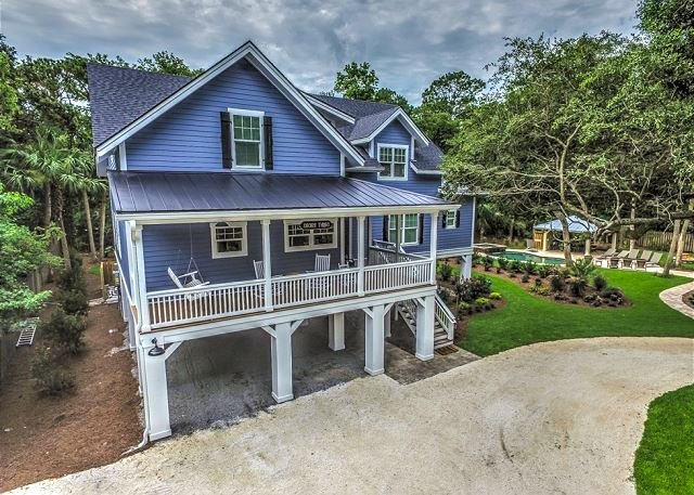 Exterior - 5A Hickory Lane-Gorgeous NEW S. Forest Beach home! 15% OFF Fall Rentals - Hilton Head - rentals