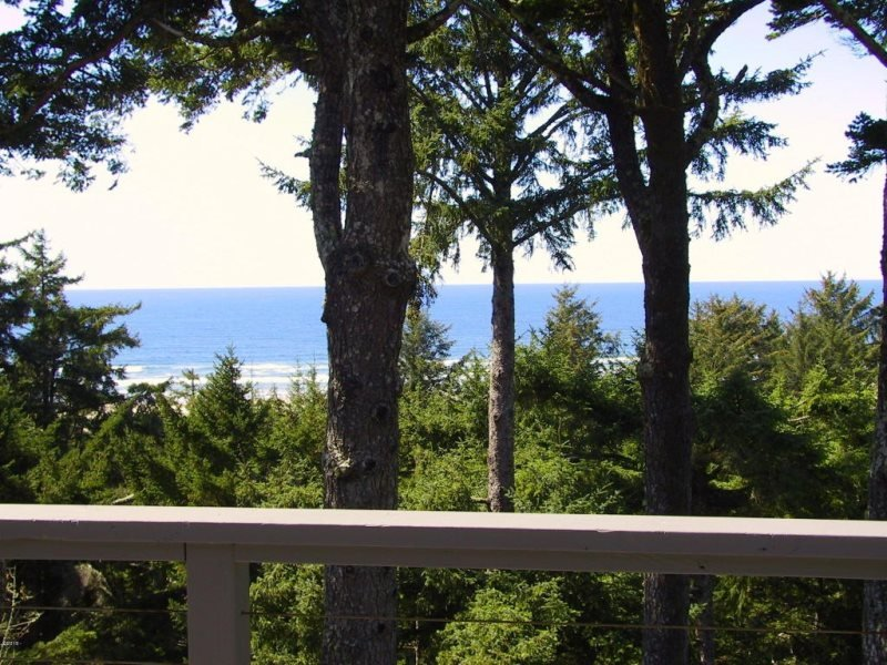 Honey Home - View from deck, Photo 1 - HONEY HOME - Waldport, Sandpiper, Bayshore - Newport - rentals