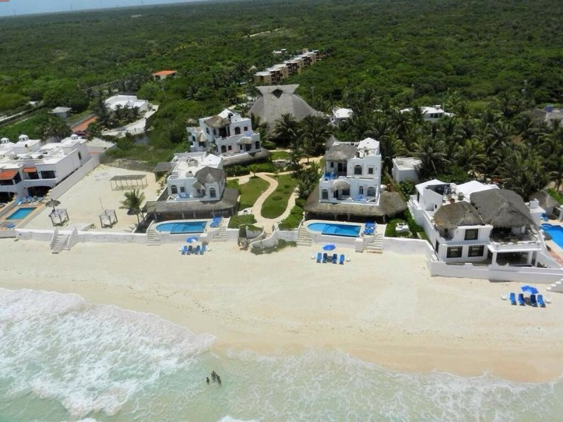 Ariel view of the Villas of Hacienda Del Secreto  - Hacienda Del Secreto-Beautiful Beachfront Villas - Playa del Secreto - rentals