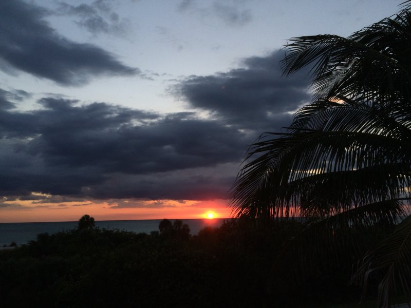 Sunset from 3rd floor deck - Sunsets In Boca Grande: elevator & prefect sunsets - Boca Grande - rentals