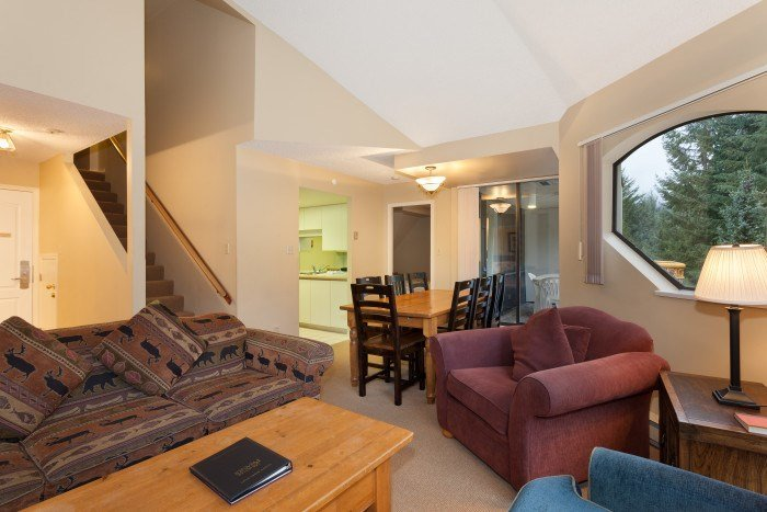 Large, yet cozy living area with excellent views  - Whistler Marquise 2 Bedroom + Loft Condo - Whistler - rentals