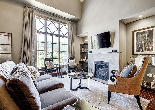 Living Room - 4BR + Loft Platinum Rated Ascent Penthouse at the base of Beaver Creek - Beaver Creek - rentals