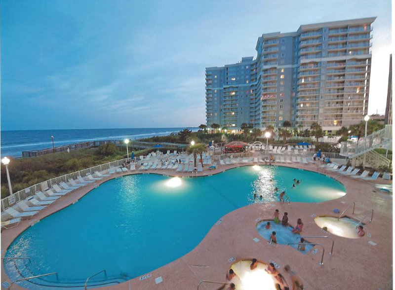North Tower Pool-The Largest &; Nicest with Poolside Tiki-bar and DJ in Season. Lazy Rivers - SEAWATCH-3BR/2BA-PENTHOUSE- October Wks. Available-Gorgeous-Direct Ocean-Save $$ - Myrtle Beach - rentals