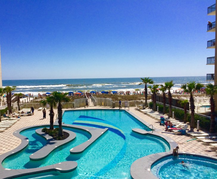 lazy river pool and hot tub over looking beach - Direct Gulf View! 3 Pools, 30 ft. Balcony - Gulf Shores - rentals