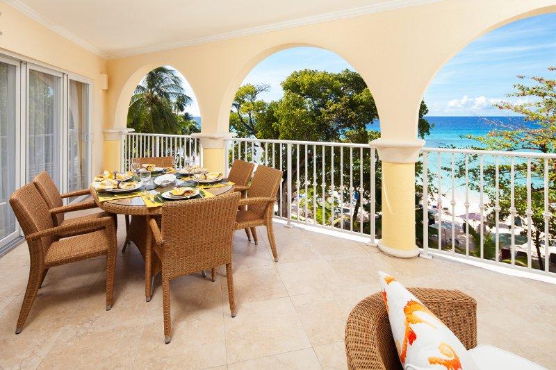 SB-309-Patio-seaview.jpg - Sapphire Beach 309 - Christ Church - rentals