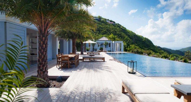 Luxury 4 bedroom St. Barts villa. Great view of the island hills and ocean! - Image 1 - Lorient - rentals