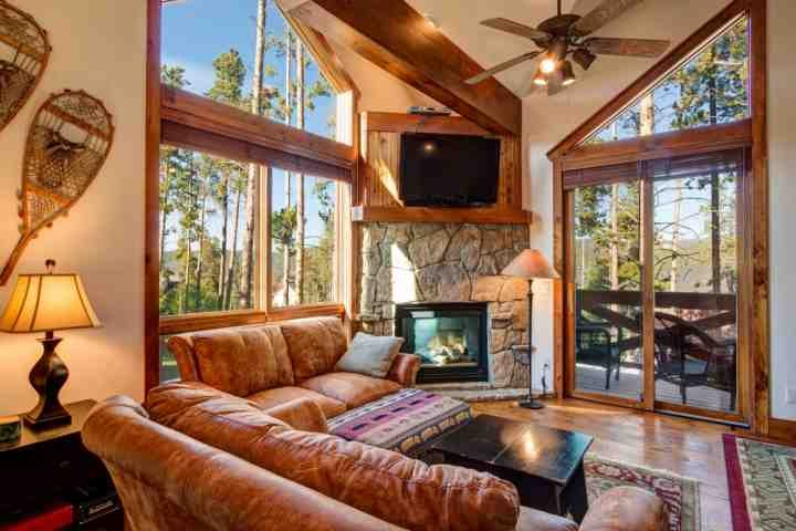Great Room leads to Balcony with Tree-top Mountain Views! - Up to 40% OFF thru 4/23 -  Luxury on Green Ski/Hkg Trail, Shuttle/Town - Breckenridge - rentals