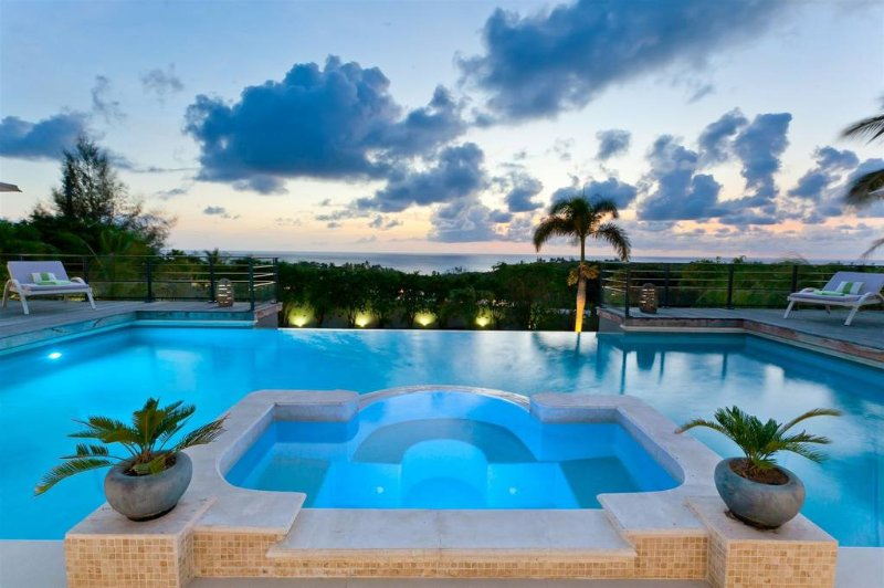 GISELLE... This magnificent 5BR St Martin villa perched on a hillside in the - Image 1 - Plum Bay - rentals