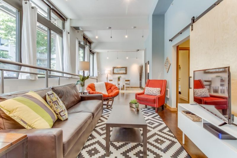 Dog-friendly urban loft condo in West Seattle with rooftop terrace! - Image 1 - Seattle - rentals