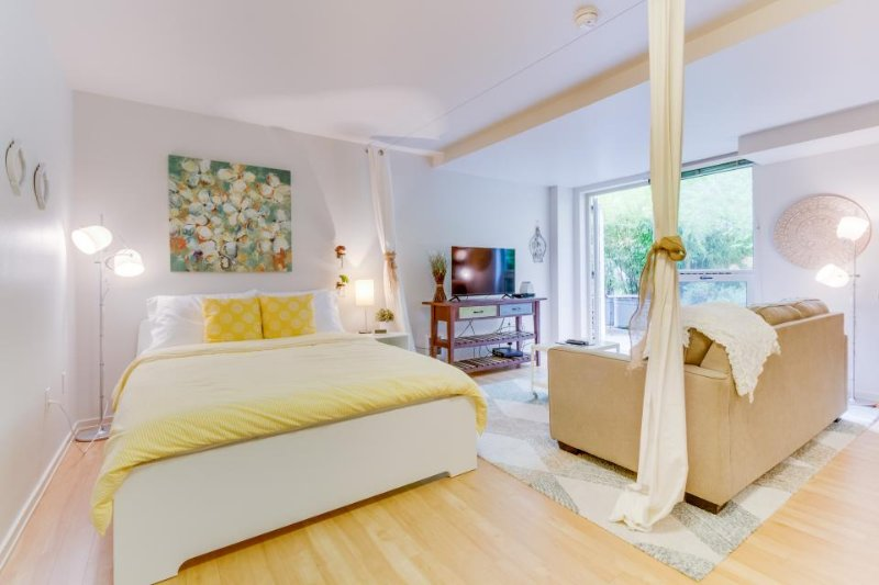 Romantic & airy studio-style unit w/ shared rooftop deck - dog-friendly! - Image 1 - Seattle - rentals