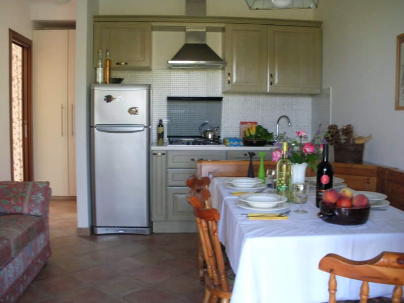 Living room with full furnished kitchen (dishwasher) - Apartment BOUGANVILLE and Room Margherita - Fermo - rentals