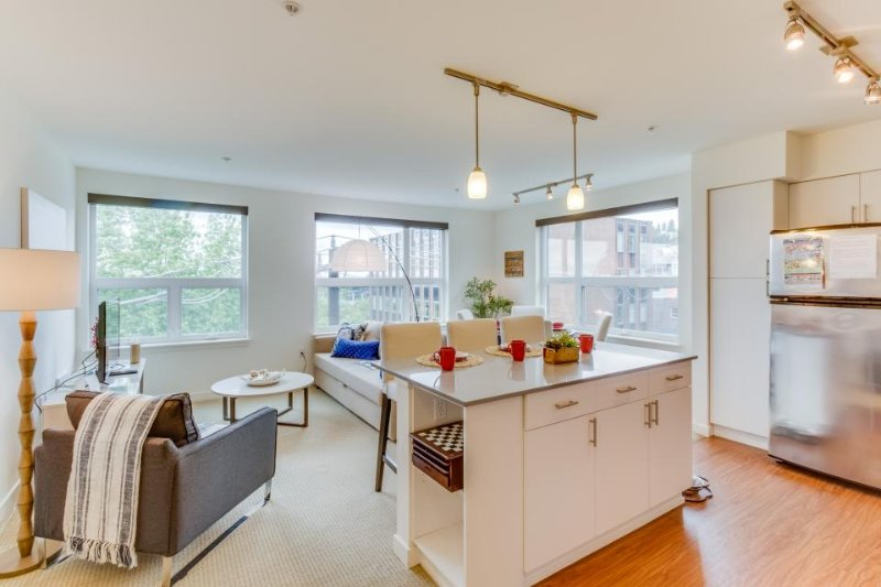 Dog-friendly condo w/ shared rooftop deck, walk to Space Needle and Elliott Bay! - Image 1 - Seattle - rentals