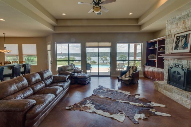 Huge, impressive, and dog-friendly lakefront estate w/ private pool & dock! - Image 1 - Spicewood - rentals