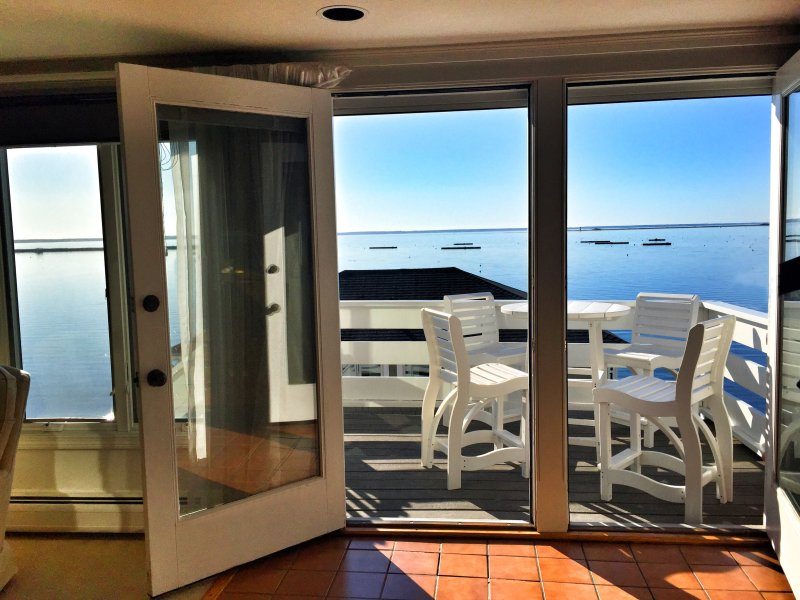 Deck View - Direct Waterfront, Spacious West End, Beach Access - Provincetown - rentals