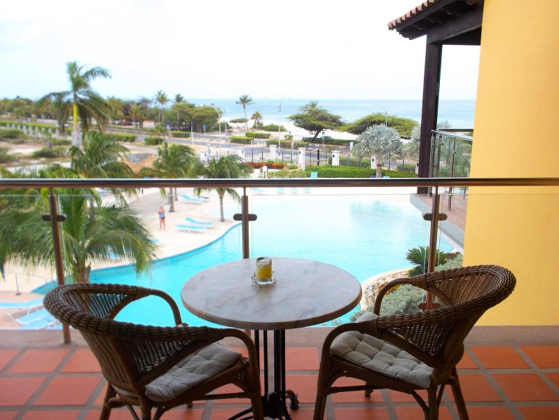your Ocean view from your balcony. - Deluxe Studio condo E323-1 - Eagle Beach - rentals