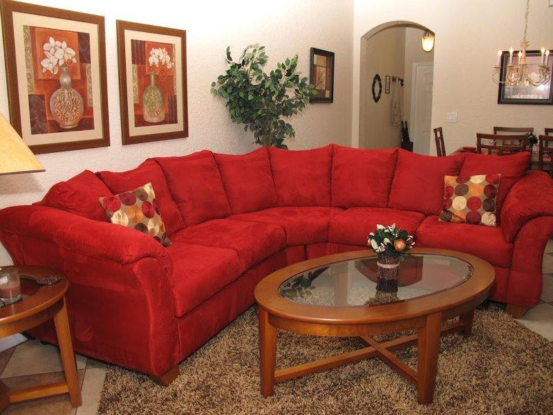 cosy living room - 4 Bed Premium Villa, Free Wi-Fi, Close to Disney - Orlando - rentals