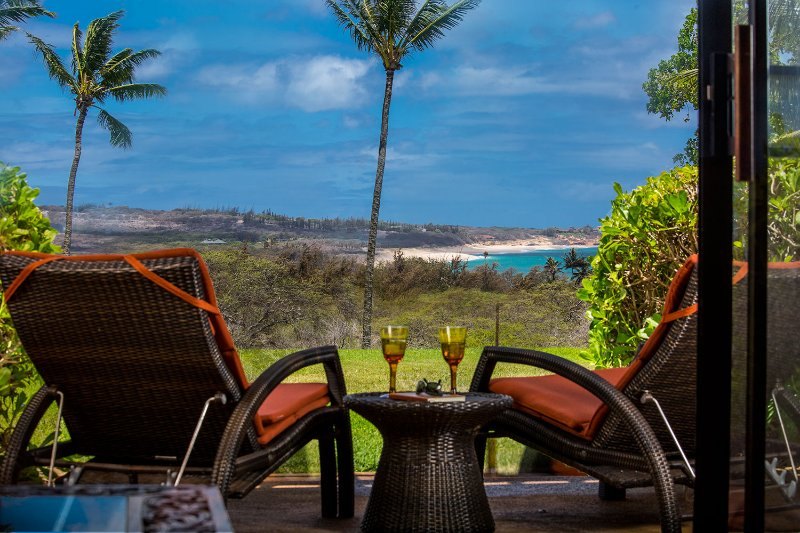Views of Papohaku Beach from our lanai - Molokai Luxury Condo - Maunaloa - rentals