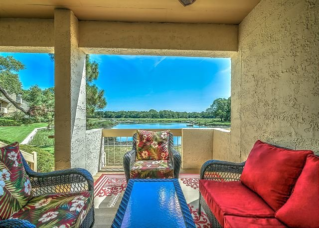 View - 1607 Port Villas - Gorgeous views of Braddock Cove - Hilton Head - rentals