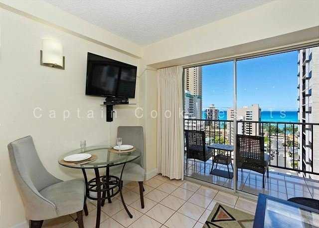 Great ocean-view one-bedroom with central AC; 5 min walk to beach, sleeps 2. - Image 1 - Waikiki - rentals