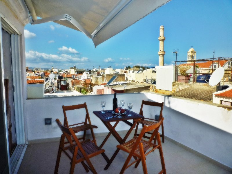 the terrace - CHANIA old city, modern  house - Chania - rentals