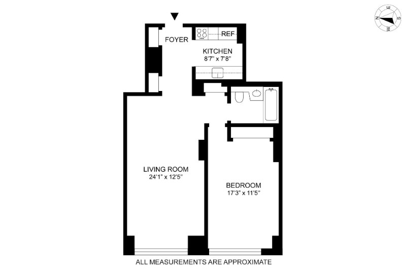 Spacious Apartment Unit in Carroll Gardens With 1 Bedroom and 1 Bathroom - Image 1 - New York City - rentals
