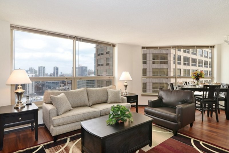 Furnished 2-Bedroom Apartment at W Madison St & S Clinton St Chicago - Image 1 - Chicago - rentals