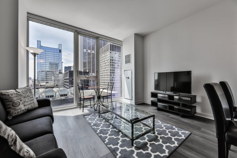 Furnished 1-Bedroom Apartment at W Randolph St & N State St Chicago - Image 1 - Chicago - rentals