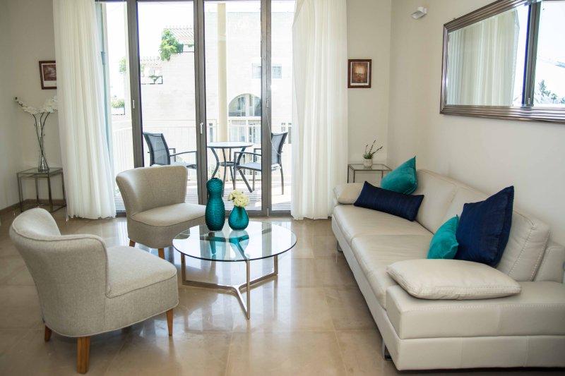 LIVING ROOM - Mamilla 3 bedrooms - great family rental! - Jerusalem - rentals