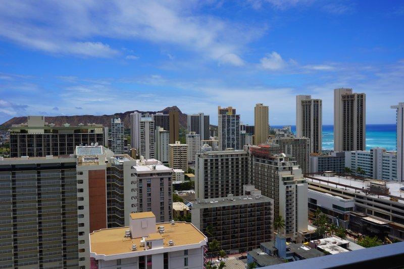View from the lanai (balcony) - Waikiki Condo w/Large Lanai Ocean View! Free WiFi! - Waikiki - rentals