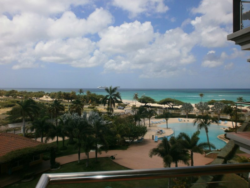 This is your ocean view!! - Glamour View Studio condo - E422-1 - Eagle Beach - rentals