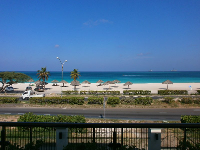 Your majestic view from your balcony! - Majestic View Three-bedroom condo - E221 - Eagle Beach - rentals