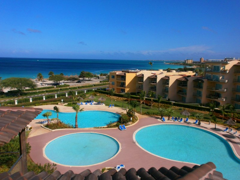 Great Ocean View from your private roof terrace! - Tropical Penthouse One-bedroom condo - BG532 - Eagle Beach - rentals